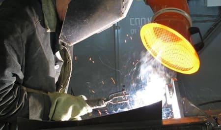 Применение местных отсосов для вытяжной местной вентиляции